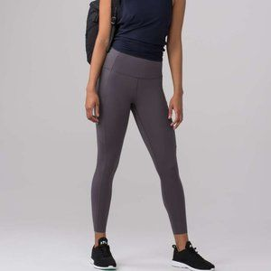 lululemon Fact & Free 7/8 leggings in Dark Carbon